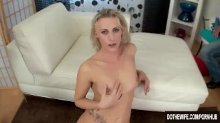 Slim blonde wife fucks stranger