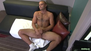 Active Duty: Hairy Soldier Plays with Nice Cut Cock