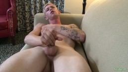 Military Twink Jerks Dick and Cums Twice