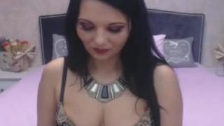 Pretty Shemale Tugs her Cock Hard