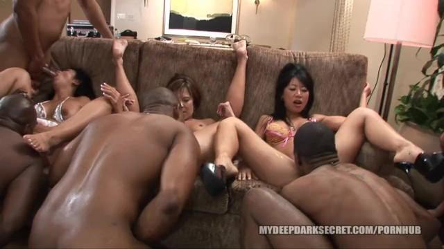 Not Tia ling interracial orgy