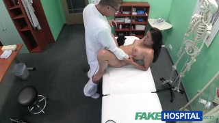 Fakehospital sexy with doctor cock cute examines his hot patient loarn cindy