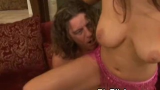 Threesome  swap fucking cum girls in natural brunette