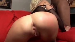two black cocks for slut blonde milf big asshole interracal dp