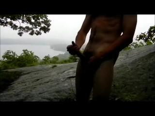 Rainy day jo at the lake