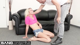 In lesson castingaubrey bang a sex rough gets deep blonde