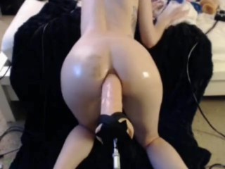 ANAL FUCK MACHINE HUGE DILDO