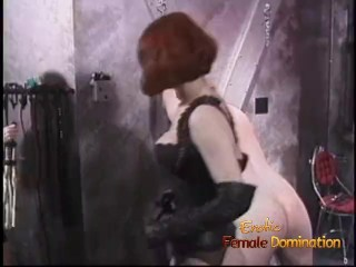 Two irresistible redhead dominas love whipping two really horny studs