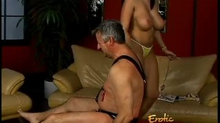 Lusty stunner Gianna Michaels really enjoys spanking a latex-clad stallion  spanking dominatrix babe bdsm big-tits shaved-pussy femdom pornstar toys hardcore brunette latex bondage whipping gianna-michaels