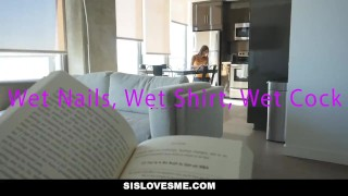 Preview 5 of SisLovesMe - Fucked my step-sister while she did HW
