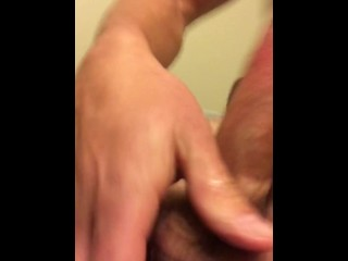 Lubed up cock