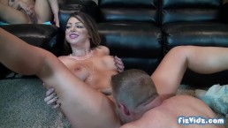 Curious Teen Joins Hot Couple For Threesome - Epic Facial