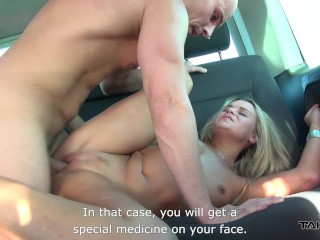 Takevan - Milf blonde cute almost hit by car & fucked to help
