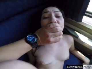 SEX ON TRAINS Karly shares train sleeper cabin