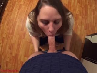 Very good blowjob and nice facial