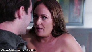 Shower of mom sweetsinner helps out stepson big tits