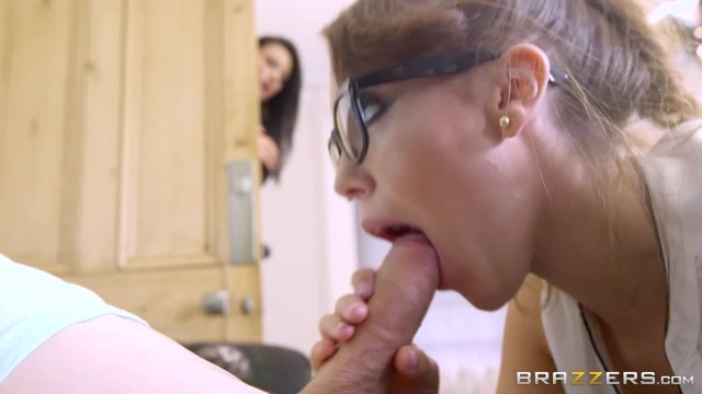 Mom and stepdaughter share young boy - Brazzers
