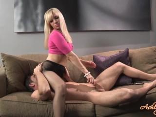 Ashley Fires Pantyhose Handjob