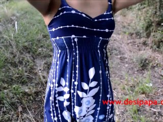 Skinny Indian Babe Walking Nude Outdoor