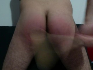 Young Italian Boy Self Spanking with wooden spoon