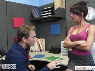 Pussy Wallpaper Rahyndee James gets fucked good and hard in the office - Naughty America