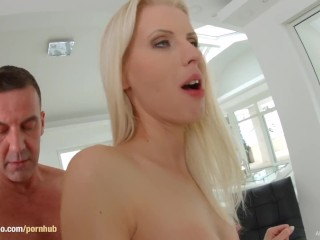 Lynna Nilsson gets a creampie after sex at All Internal