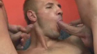 Hot threesome men blowjobs twink blonde