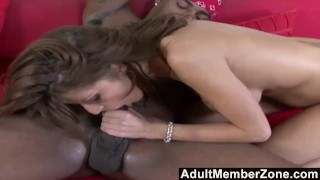 AdultMemberZone - Busty white whore craves massive black dick Cock brunette