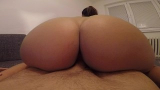 Enjoys and hot hard riding girlfriend teasing  riding of