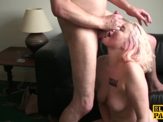 Worthless british sub slapped and choked