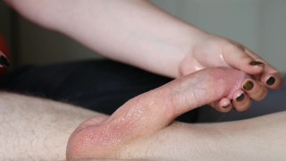 Handjob Techniques 1  edging manscaping hardcore handjob technique handjob tease tugging thick cock tug tease big cock cumshot oiled
