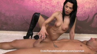Boots domination handjob with Shalina Devine