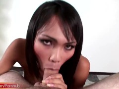 Leaked FULL movie with naughty ladyboy giving blowjob in POV