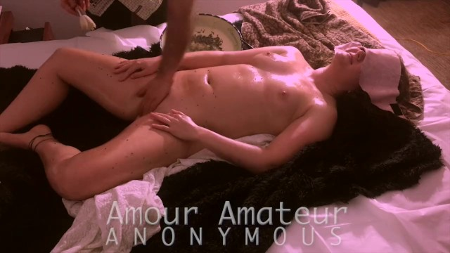 Lavander milf Orgasmic coconut and lavender oil erotic massage - full movie