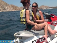 EXCLUSIVE Lesbian Jet SkiSex, Snorkeling & Fucked by a BIG Dick in Public!