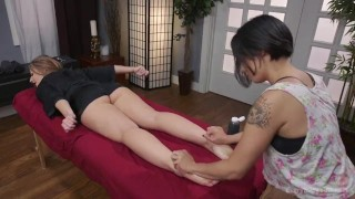 Savanna Fox, Milcah Halili  strap on ass fuck ass gaping femdom asian blonde tattoo massage domination toys kink brunette gape girl on girl everythingbutt