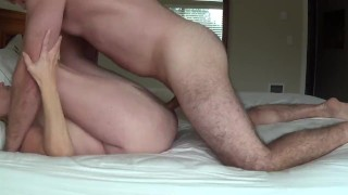 Hard Pussy Pounding, Cheating Wife Gets Call During Fucking