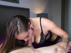 Sasha Foxxx edges a stiff and aching cock