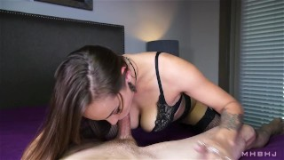 Sasha Foxxx edges a stiff and aching cock  edging the-pose mhbhj slow-teasing-blowjob cum-in-mouth sasha-foxxx marks-head-bobbers mhb mark-rockwell