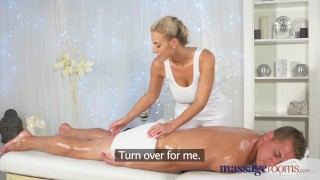 Massage Rooms Horny young big boobs blonde takes fat dick  foot wank big-tits shaved-pussy massive-tits female orgasm hand-job doggy-style blonde massage female-friendly sensual feet massagerooms cum-shot big-dick