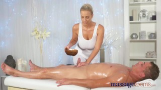 Massage Rooms Horny young big boobs blonde takes fat dick  foot wank big-tits shaved-pussy female orgasm hand-job doggy-style blonde massage female-friendly sensual feet massagerooms cum-shot big-dick massive-tits