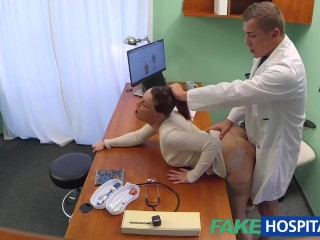 Amateur Lingerie Teen FakeHospital Doctor gets sexy patients pussy wet