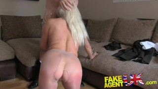 FakeAgentUK Sultry blonde MILF with big tits gets tied up and fucked rotten porno