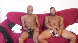 Ebony dudes love worshipping each others jock straps