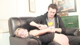 Fetish twink loves to be spanked by his DILF boyfriend