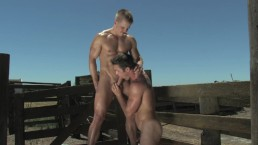 FalconStudios FULL SCENE Ryan Rose Bottoms at the Farm!