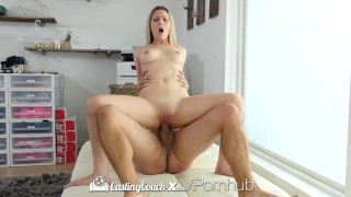 CastingCouch X Aubrey Sinclair first porn audition with CCX