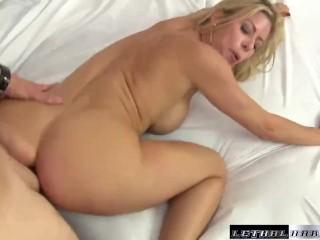 MILF Alexis eats Jerrys ass and makes him cum facial