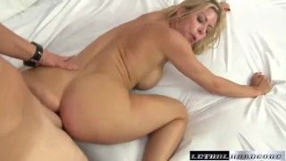 MILF Alexis eats Jerrys ass and makes him cum facial