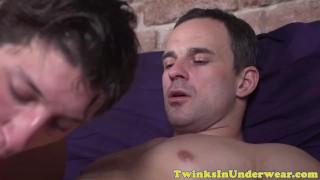 Twink amateur sucking masseurs hard cock
